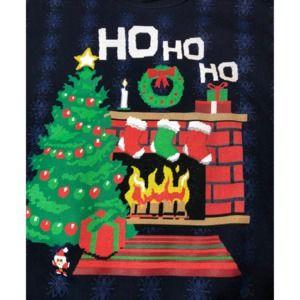 Christmas Sweatshirt Blue Crossstich Pattern